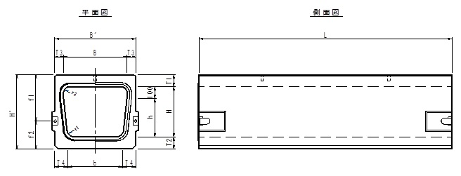 カルバートフリューム寸法図