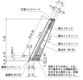 ブロック基礎参考断面図