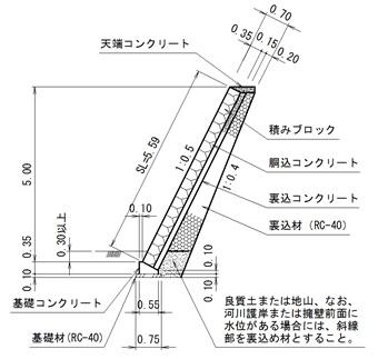 積みブロック参考断面図