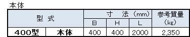 TY側溝寸法表1(本体)