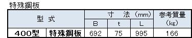 TY側溝寸法表2(特殊鋼板)