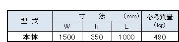 TY植樹桝寸法表