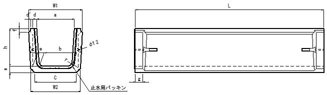 イコール暗渠JBF(製品図)