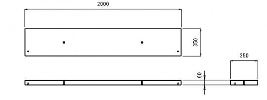 ホタルの里 製品図(天端ブロック)